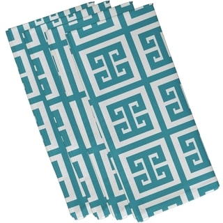 Geometric Greek Key Print 19-inch Table Top Napkin