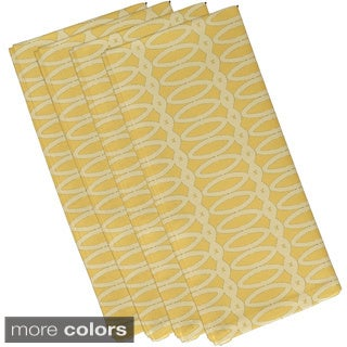 Geometric Oval Print 19-inch Table Top Napkin