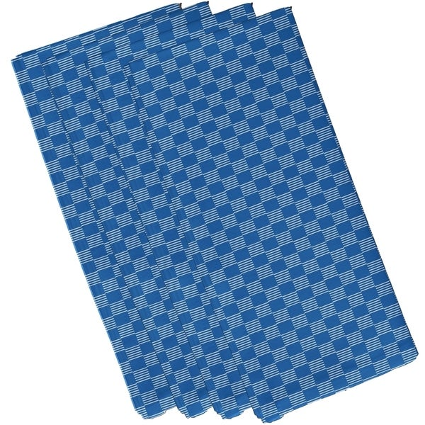 Geometric Small Checkered Print 19-inch Table Top Napkin