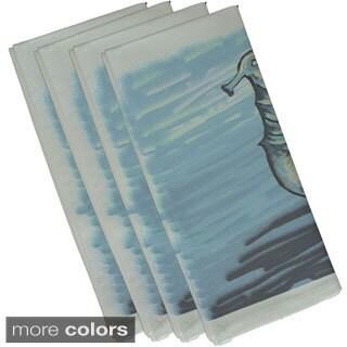 Seahorse Coastal Print 19-inch Table Top Napkin