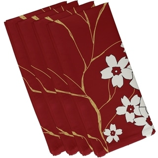 Floral Branch Print 19-inch Table Top Napkin