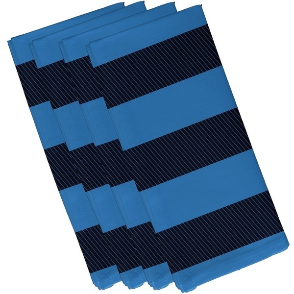 Two-tone Stripe Print 19-inch Table Top Napkin
