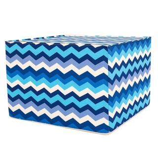 Cherokee Blue Zigzag Ottoman