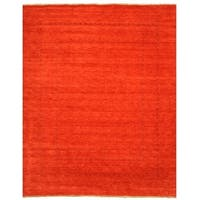 Handmade Wool Red Traditional Tribal Lori Baft Rug (9' x 12') - 9' x 12'