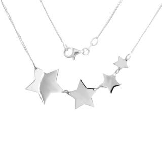 18-inch Sterling Silver Reach For The Stars Necklace
