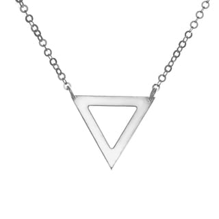 Sterling Essentials 18-inch Silver Open Pyramid Necklace