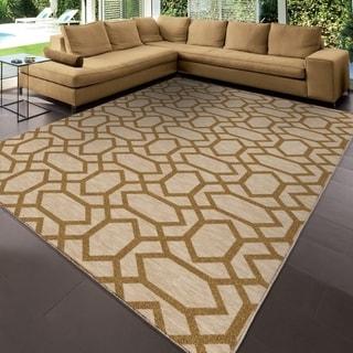 Carolina Weavers Simplicity Collection Talavera Khaki Area Rug (3'11 x 5'5)
