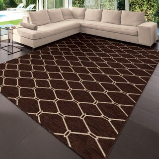 """Simplicity Talavera Brown Area Rug (3'11"""" x 5'5"""")"""