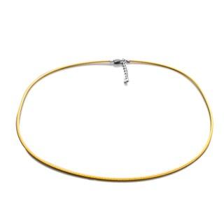 Sterling Essentials Rhodium Plated Silver Round Snake Choker