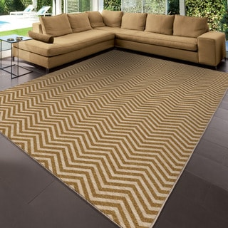 Carolina Weavers Simplicity Collection Harrington Gold Area Rug (3'11 x 5'5)