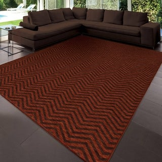 "Simplicity Harrington Cinnabar Brown Area Rug (3'11"" x 5'5"")"