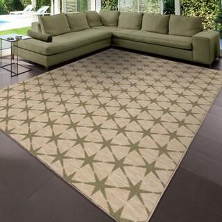 Simplicity Northstar Khaki Green Tea Area Rug (3'11 x 5'5)