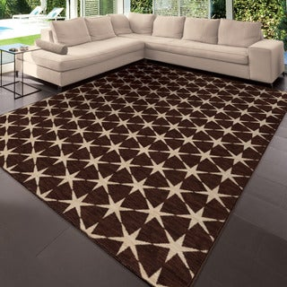 "Simplicity Northstar Brown Area Rug (3'11"" x 5'5"")"