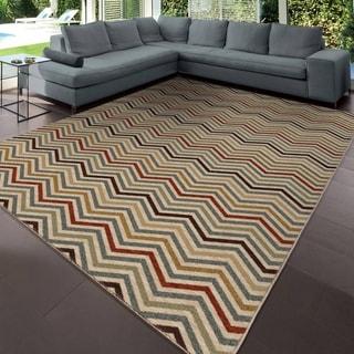 Carolina Weavers Simplicity Collection Harrington Multi Area Rug (3'11 x 5'5)