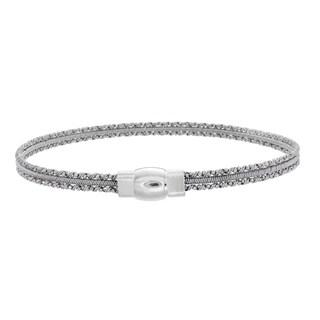 Sterling Essentials Silver Mini Cuff Bracelet (Option: Black)