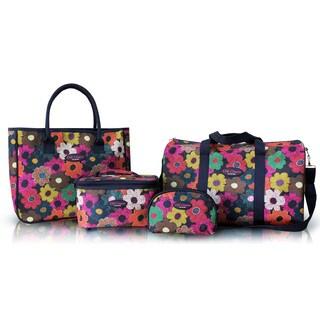 Jacki Design Floral 4-piece Travel Bag Set