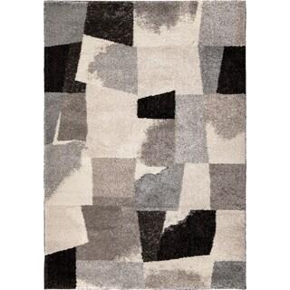 Carolina Weavers Metropolitan Collection Rampart Slate Shag Area Rug (3'11 x 5'5)
