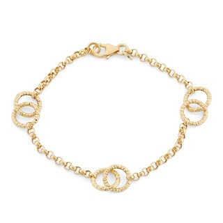 14k Yellow Gold Loop Link Bracelet