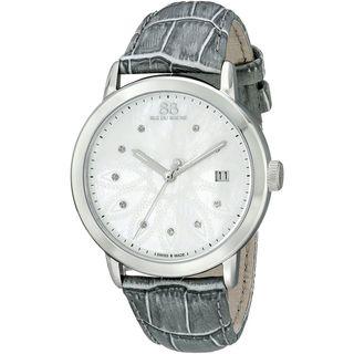 Rue Du Rhone Women's 87WA140018 'Double 8' Diamond Beige Leather Watch