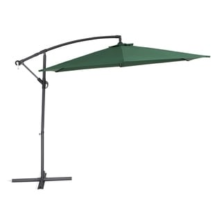 Beliani Outdoor Cantilever Cavalli Green Umbrella
