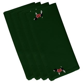 Hound Dog Holiday Dark Green 19-inch Table Top Napkin