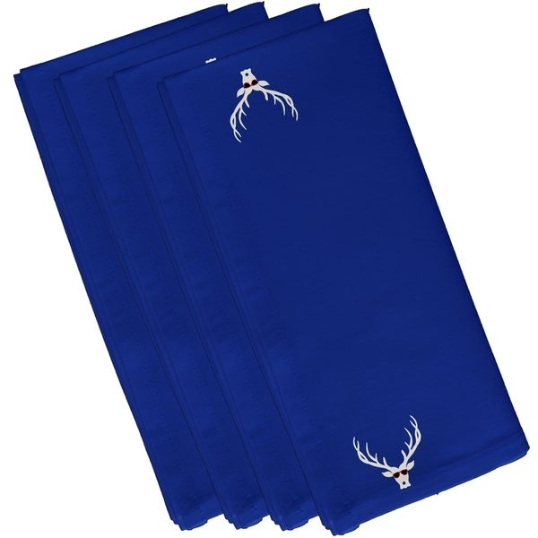 Cool Deer Holiday Print 19-inch Table Top Napkin