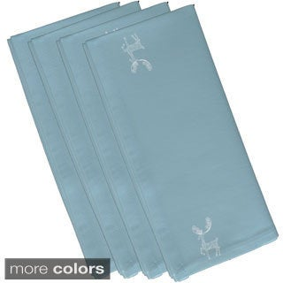 Reindeer Holiday 19-inch Table Top Napkin