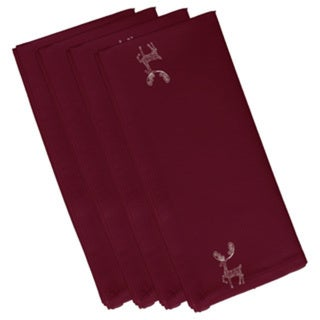 Reindeer Holiday Print 19-inch Table Top Napkin