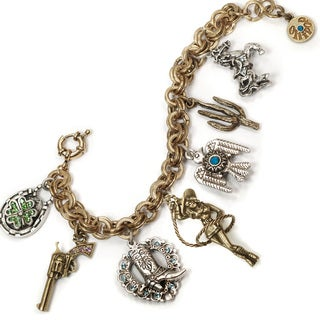 Sweet Romance Country Western Cowgirl Charm Bracelet