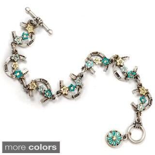 Sweet Romance Horseshoe Kentucky Derby Bracelet