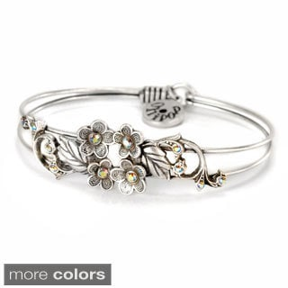 Sweet Romance Flower Victorian Bangle Bracelet