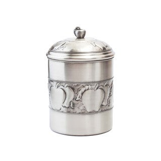 Antique Embossed Apple Cookie Jar with Fresh Seal Cover