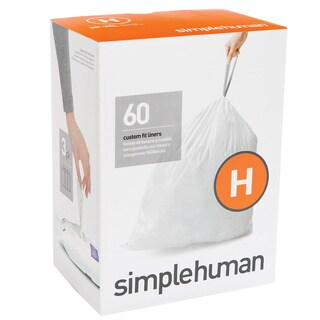 Simplehuman 20-count 8-9 Gallon Code H Custom Fit Trash Can Liners (Pack of 3)