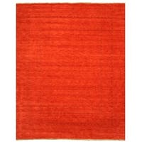 Handmade Wool Red Traditional Tribal Lori Baft Rug - 8' x 10'