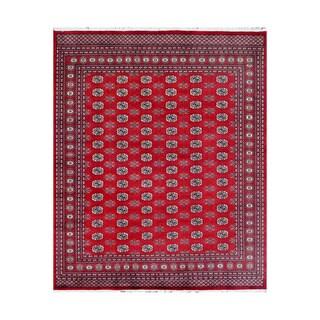 Herat Oriental Pakistani Hand-knotted Bokhara Red/ Ivory Wool Rug (9'2 x 12')