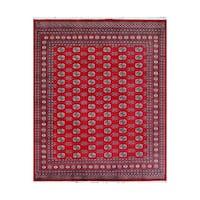Handmade Herat Oriental Pakistani Bokhara Wool Rug (Pakistan) - 9'2 x 12'