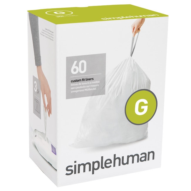 simplehuman 20-count 8-gallon Code G Custom Fit Trash Can...