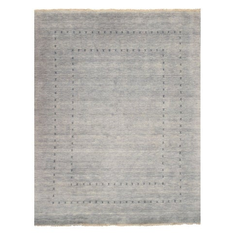 Handmade Wool Gray Traditional Solid Lori Baft Rug - 9' x 12'