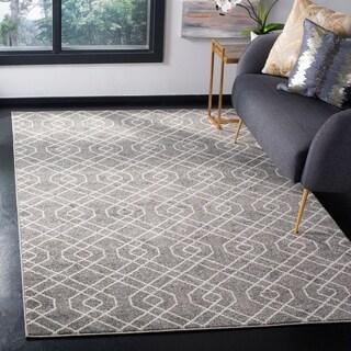 Safavieh Indoor/ Outdoor Amherst Grey/ Ivory Rug (4' x 6')