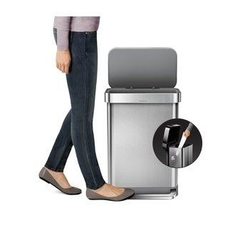 Simplehuman 55-liter Stainless Steel Rectangular Step Can with Liner Pocket