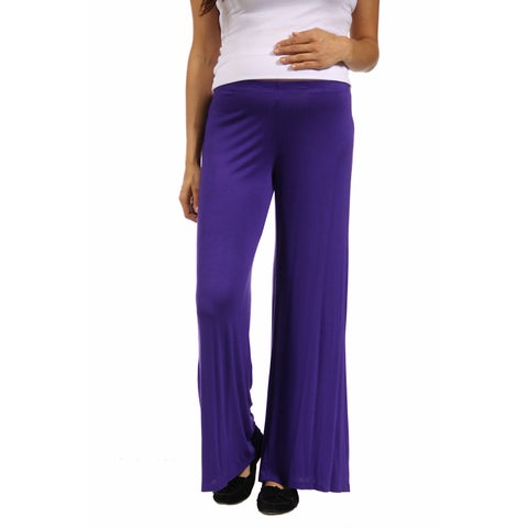 24/7 Comfort Apparel Women's Maternity Palazzo Wide-leg Pants