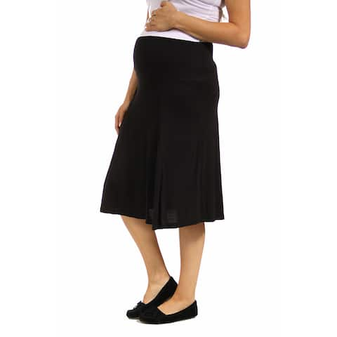24/7 Comfort Apparel Women's Maternity Calf-Length Skirt