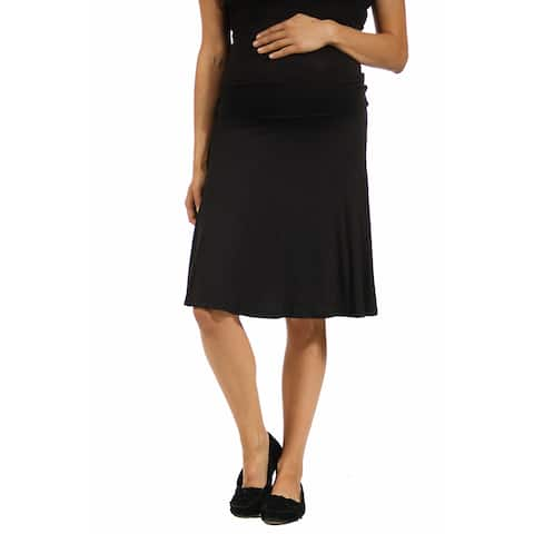24/7 Comfort Apparel Women's Maternity Foldover Skirt