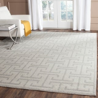 Safavieh Indoor/ Outdoor Amherst Ivory/ Light Grey Rug (8' x 10')