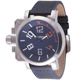 Haurex Italy Mens Gun Blue Watch