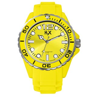 Haurex H2X Mens Reef Yellow Watch|https://ak1.ostkcdn.com/images/products/10208178/P17330920.jpg?impolicy=medium