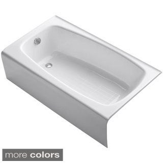Kohler Seaforth 4.5 Foot Left-hand Drain Cast Iron Alcove Bathtub