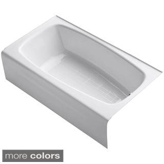 Kohler Seaforth 4.5-foot Right-hand Drain Cast Iron Alcove Bathtub