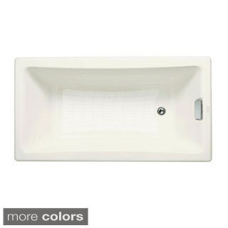 Kohler Tea-for-Two 5 Foot Reversible Drain Drop-in Cast Iron Bathtub