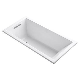 Kohler Underscore 5 Foot Left Drain Soaking Tub in White (apron front)